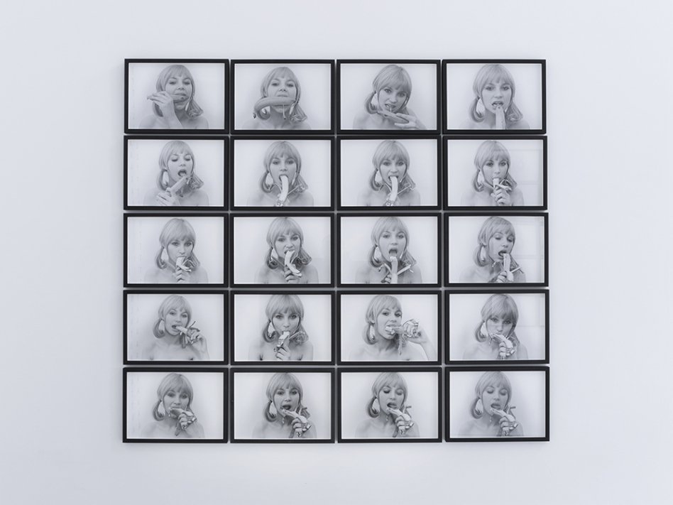 Natalia LL, Consumer Art, 1972 (printed 1991). 20 hand-printed photographs on archival paper, 27 x 38.4 each (28 x 39.4 x 2 cm with frame), unique. © Ollie Hammick