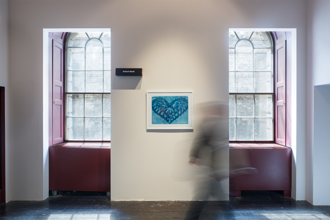 Thomas Mailaender: Cyanotypes, installation view, Roman Road booth D5, Photo London, London, 21 May - 24 May 2015. © Ollie Hammick