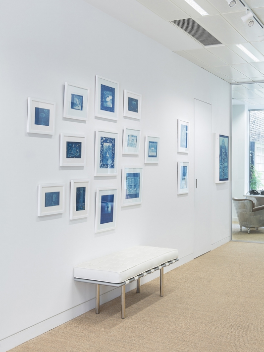 Thomas Mailaender: Prussian Blue, installation view, Roman Road at Omer Tiroche Gallery, London, 25 August – 25 September 2015. © Ollie Hammick