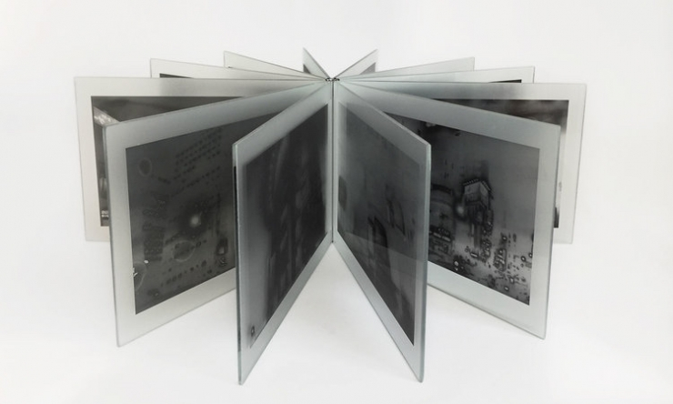 Antony Cairns, TYO2, 2017. Glass photobook, 21.3 x 14.8 x 3.8 cm, special edition of 35. © GOLIGA