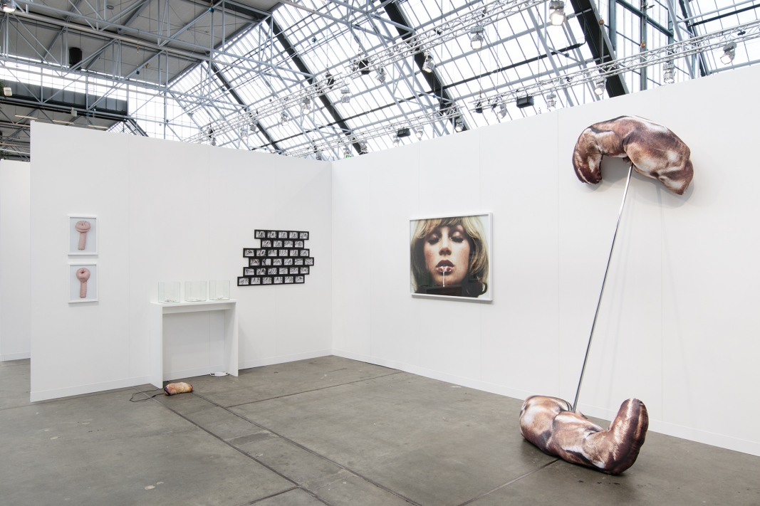 Natalia LL, Alix Marie and Chelsea Culprit, installation view, Roman Road stand 079, Code 2, Copenhagen, 31 August - 02 September 2017. Courtesy of Roman Road and the artists. © I DO ART Agency