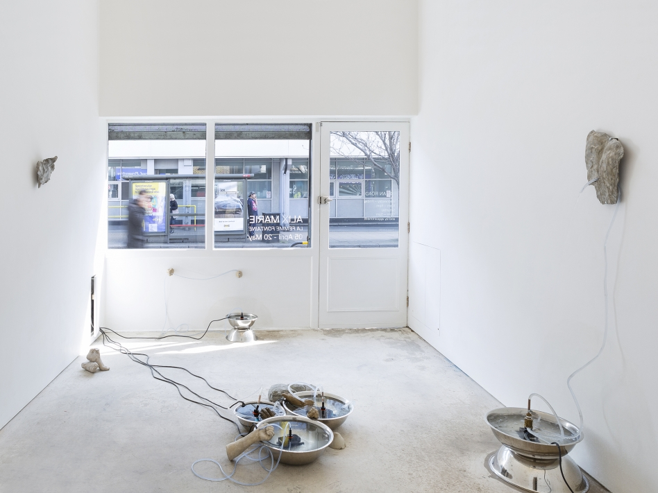 Alix Marie: La Femme Fontaine, installation view, Roman Road, London, 05 April – 20 May 2018. Courtesy of Roman Road and the artist. © Ollie Hammick