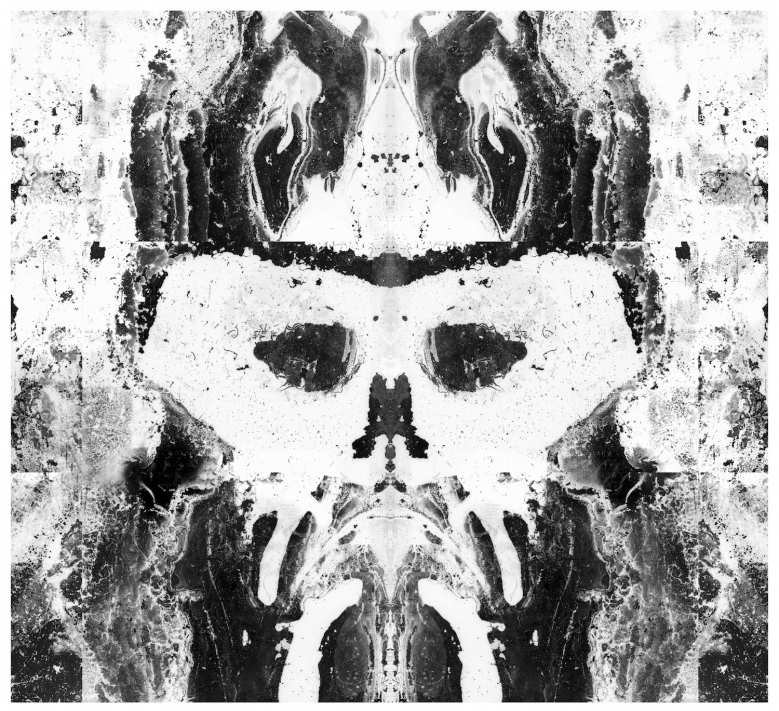Pascal Ungerer, Mask I (from the series Erasure), 2017. Archival pigment print, 60 x 60 cm, edition of 7 + 2 AP. Courtesy of the artist, the Cork City Council Arts Office and Roman Road