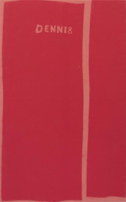 Dennis Buck, mapmapmap18, 2018. Sun-bleached canvas, 225 x 140 cm, unique. Courtesy of Roman Road and the artist
