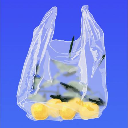 Juls Gabs, 'Bolsa de Limones' 2020. Digital painting.